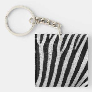 Zebra Black and White Striped Skin Texture Templat Acrylic Keychain