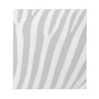 Zebra Black and White Striped Skin Texture Templat Note Pad