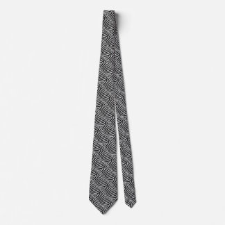 Zebra Black and White Striped Skin Texture Templat Tie