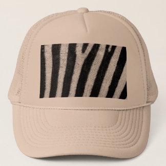Zebra Black and White Striped Skin Texture Templat Trucker Hat