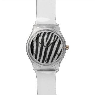 Zebra Black and White Striped Skin Texture Templat Wrist Watch