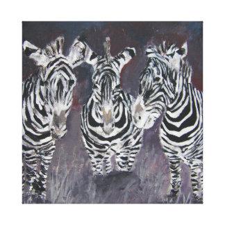 zebra black and white stripes oil painting canvas print