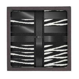 Zebra Black Silk Keepsake Box