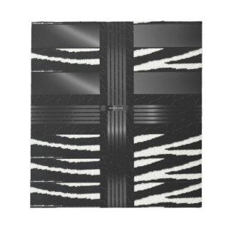 Zebra Black Silk Note Pad