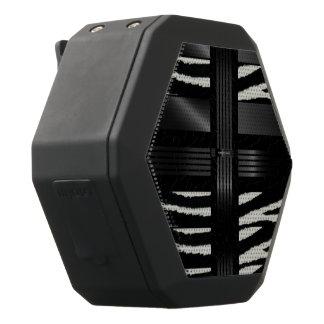 Zebra Black Silk Pattern Black Bluetooth Speaker