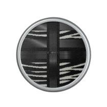 Zebra Black Silk Pattern Speaker