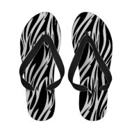 Zebra Black White Animal Stripe Sandals