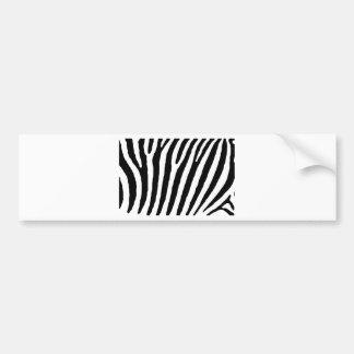 Zebra Black & White Lines Bumper Sticker