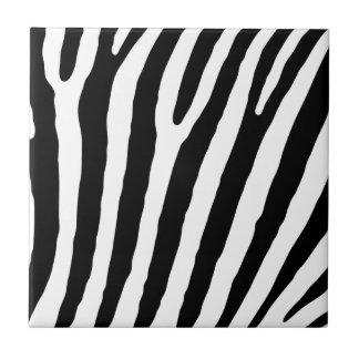 Zebra Black & White Lines Ceramic Tile