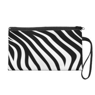 Zebra Black & white Pattern Wristlet Clutches