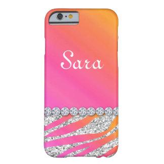 Zebra Bling iPhone 6 case Cute Orange Pink