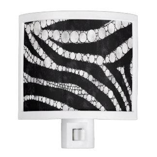 Zebra Bling Night Light