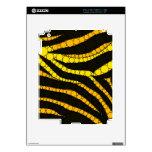 Zebra Bling Yellow/Black Decal For iPad 2