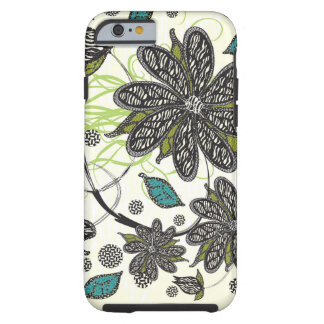 """Zebra Blooms"" iPhone Tough iPhone 6 Case"