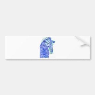 zebra blue bumper sticker