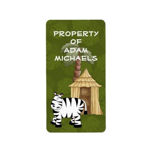 Zebra Bookplate Label | Zazzle