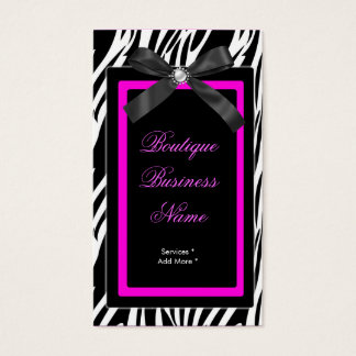 Zebra Boutique tag hot pink bow image