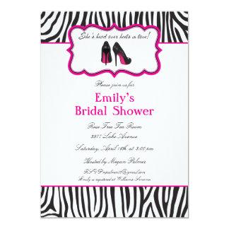 Zebra Bridal Shower Invitations