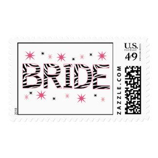 Zebra Bride Postage Stamps