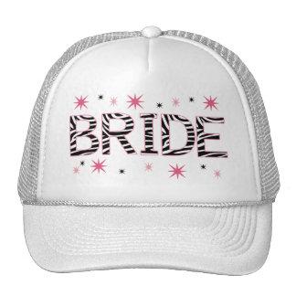Zebra Bride Trucker Hat