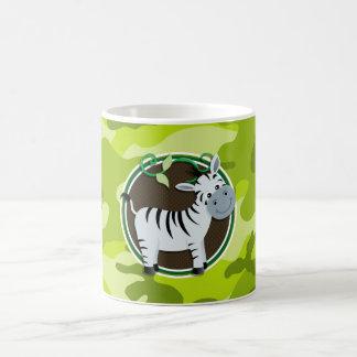 Zebra; bright green camo, camouflage mug