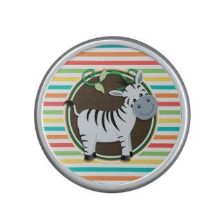Zebra Bright Rainbow Stripes Bluetooth Speaker