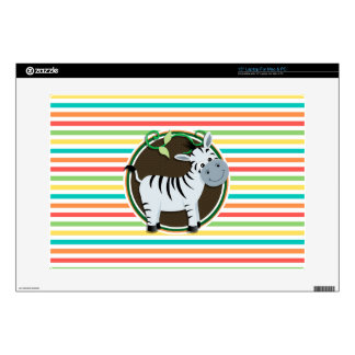 Zebra Bright Rainbow Stripes Skin For Laptop