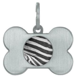 zebra Brush Strokes Paint Creative Digital Bright Pet ID Tag