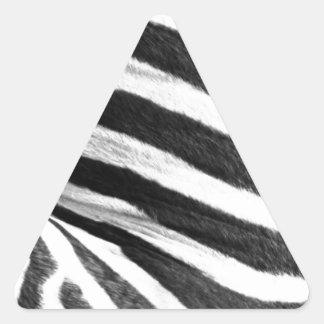 zebra Brush Strokes Paint Creative Digital Bright Triangle Sticker