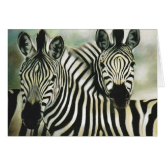 """Zebra Buddies"" Greeting Card"