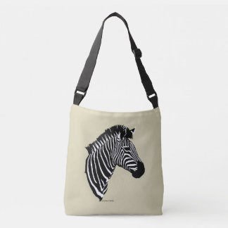 """""""Zebra"""" Buff Cross Body Bag"""