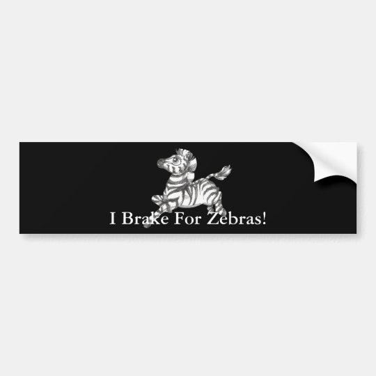 Zebra Bumper Sticker