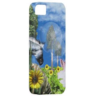 Zebra, bunnies sunflowers iphone barelythere case
