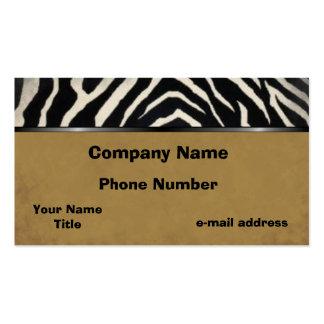 Zebra Business Card