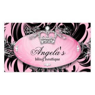Zebra Business Card Jewelry Crown Pink