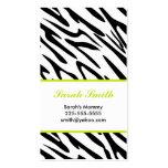 Zebra Business Card Template