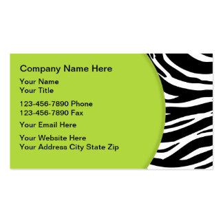 Zebra Business Cards