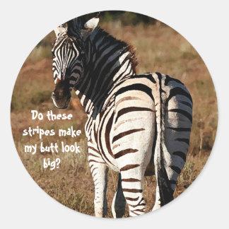 Zebra butt stickers