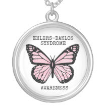 Zebra Butterfly EDS  Necklace