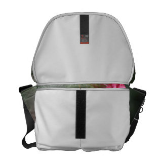 zebra butterfly head on pink flower animal courier bag