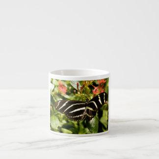Zebra Butterfly 6 Oz Ceramic Espresso Cup