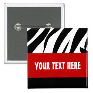 Zebra Button, Customizable Button