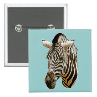 Zebra Button or Badge