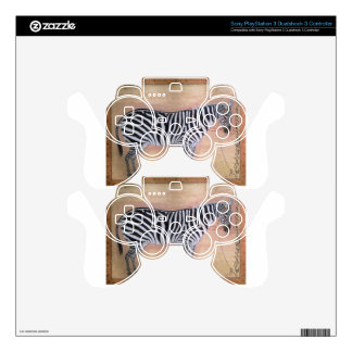 Zebra by Ustad Mansur Skins For PS3 Controllers