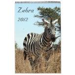 zebra calendar 2012