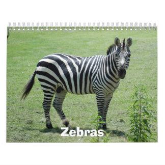 Zebra Calendar, Zebras
