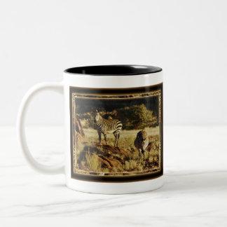 Zebra calendars Two-Tone coffee mug