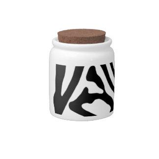 Zebra Candy Dish