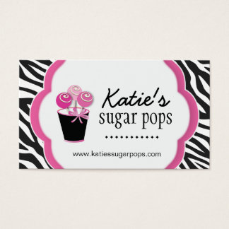 Zebra Candy Store Business Cards
