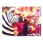 Zebra Carnival Postcard